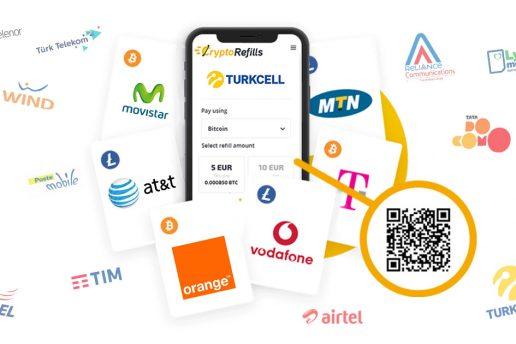 Recharger le Crédit Mobile avec Bitcoin