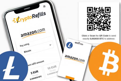 Compra Tarjetas de Regalo de Amazon con Bitcoin