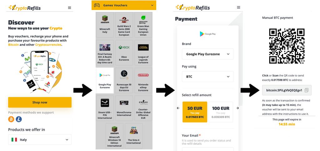 acquista la carta regalo di google play con bitcoin)