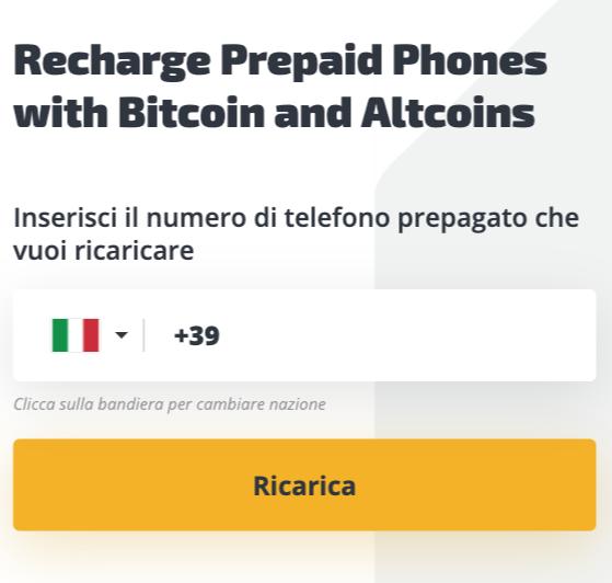 Come Acquistare Ricariche E Ricariche Cellulari Con Bitcoin E Crypto