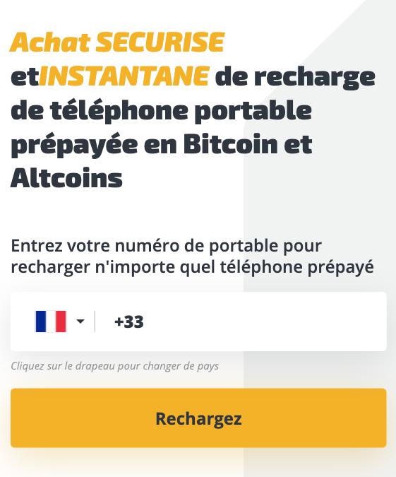 Comment Acheter Des Recharges Mobiles Et Des Recharges Avec Bitcoin Et Crypto
