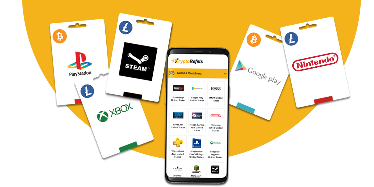 Buy Gift Cards & Vouchers with Bitcoin » CryptoRefills