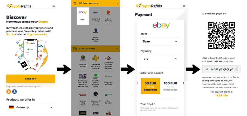 Buy Ebay Gift Cards With Bitcoin Cryptorefills