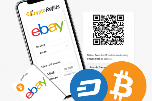 Buy eBay Gift Cards with Bitcoin
