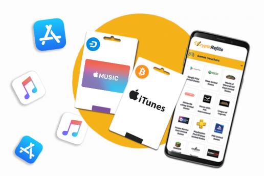 Comprar tarjetas de regalo de App Store, iTunes y Apple Music con Bitcoin