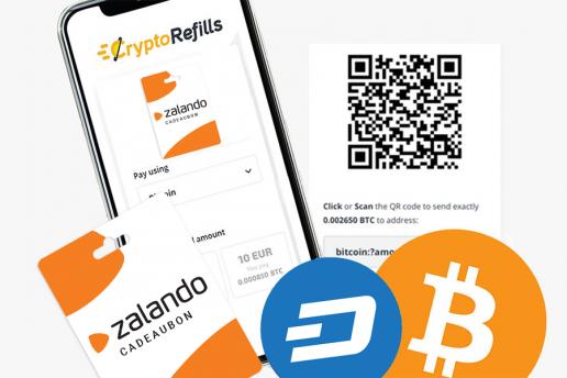 Come acquistare carte regalo Zalando con Bitcoin