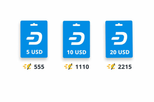 Special Dash Rewards are available on CryptoRefills